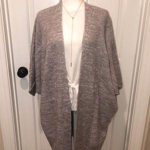 Indigo Thread Co. Kimono Cardigan Duster Heathered Grey size XL